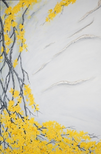 Close up view of details - Forsythia
