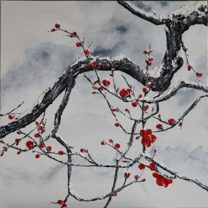 Plum Blosson in Snow II