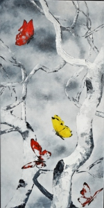 20. Unexpected Guests - YellowRed 14X28 $500
