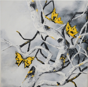 Aspen and Yellow Butterflies