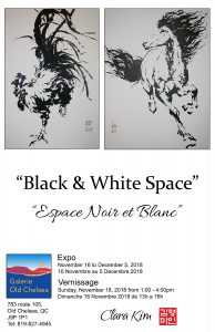 Black and White Space Solo Exhibition